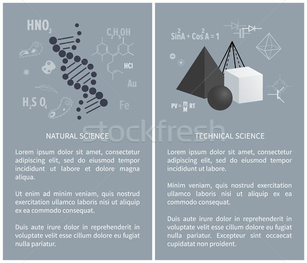 Naturale tecnica scienza manifesti istruzione sito web Foto d'archivio © robuart