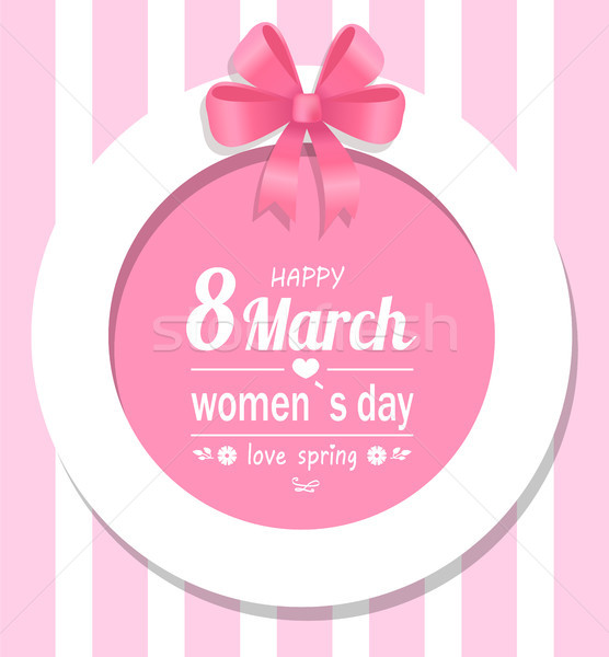 Greeting Card Happy Womens Day Eight March Spring Stock photo © robuart