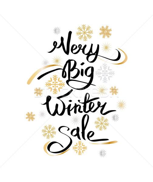 Very Big Winter Sale Inscription on Snowflakes Stock photo © robuart