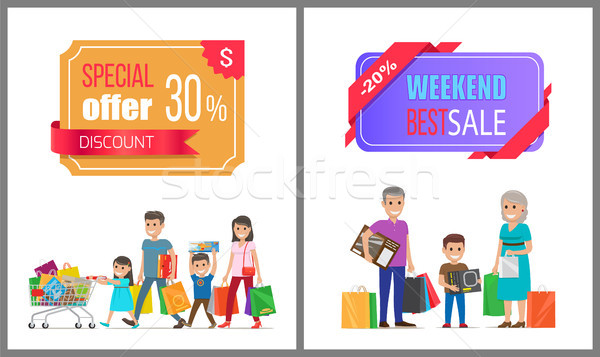 Special Offer Discount Weekend Best Sale Shopping Stock photo © robuart
