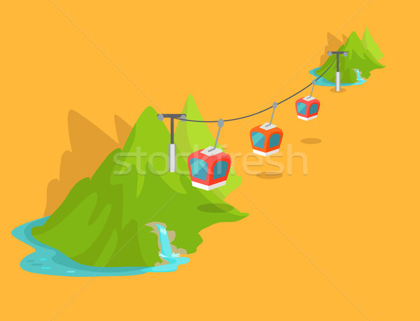 Maokong Mountain Cableway in Taiwan Graphic Icon Stock photo © robuart