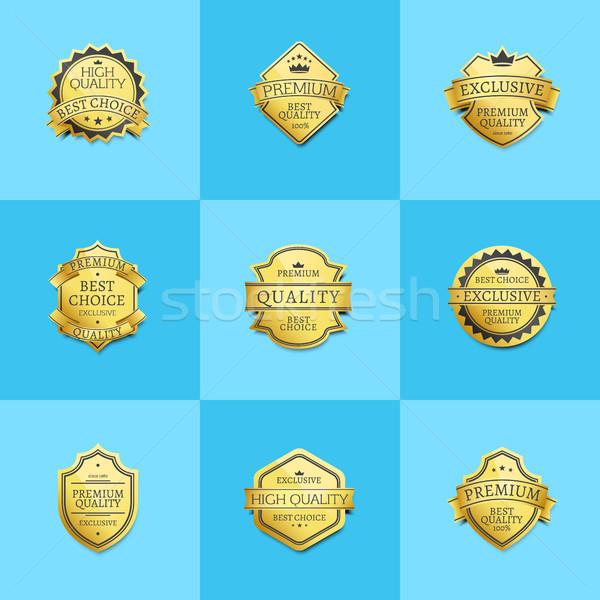 Establecer prima calidad mejor oro Foto stock © robuart