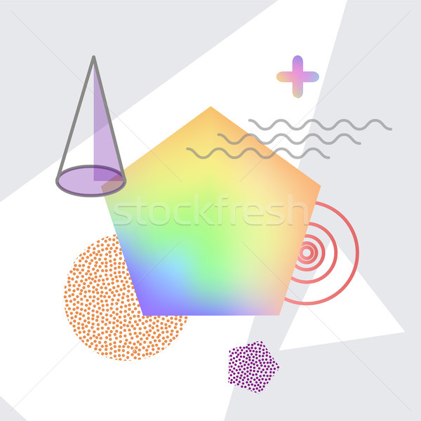 Shapes Making Up Abstraction Vector Illustration Stock photo © robuart
