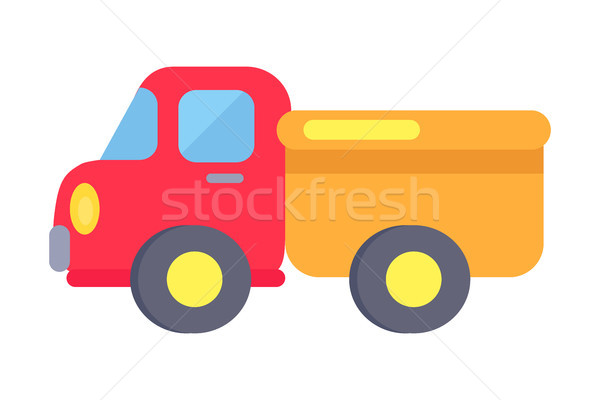 Vector Template of Plastic Toy Truck On White Stock photo © robuart