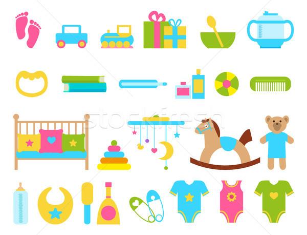 Giocattoli infantile oggetti set raccolta ragazzi Foto d'archivio © robuart