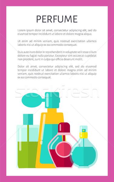 Parfüm poster metin örnek başlık çerçeve Stok fotoğraf © robuart