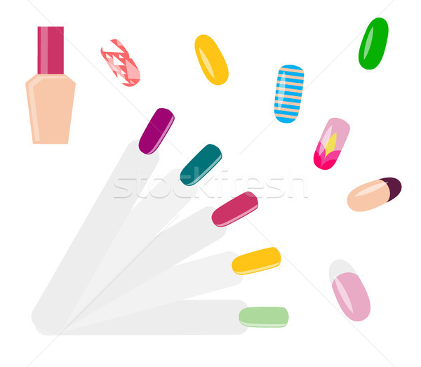 Set of Beautiful Nail Examples Vector Illustration Stock photo © robuart