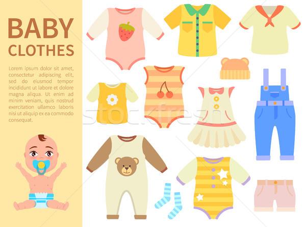 Set of Baby Clothes Isolated on White background Stock photo © robuart