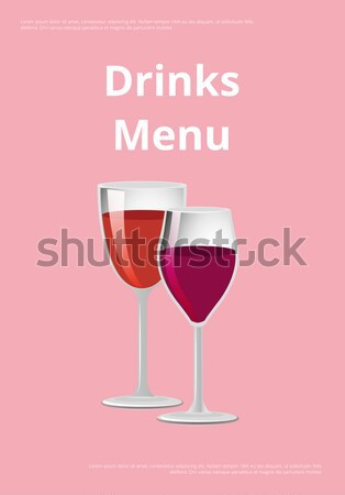 Red Wine Glass of Burgundy Classic Drink Vector Stock photo © robuart