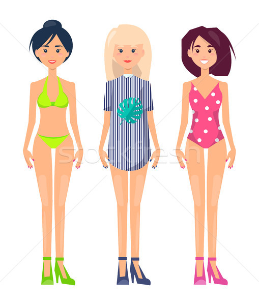 Women Set Summer Mode Collection of Clothes Stock photo © robuart
