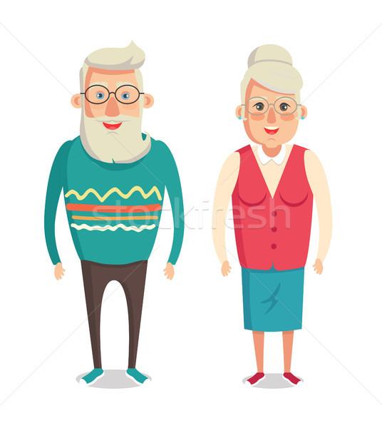 Avós avó avô desenho animado Foto stock © robuart