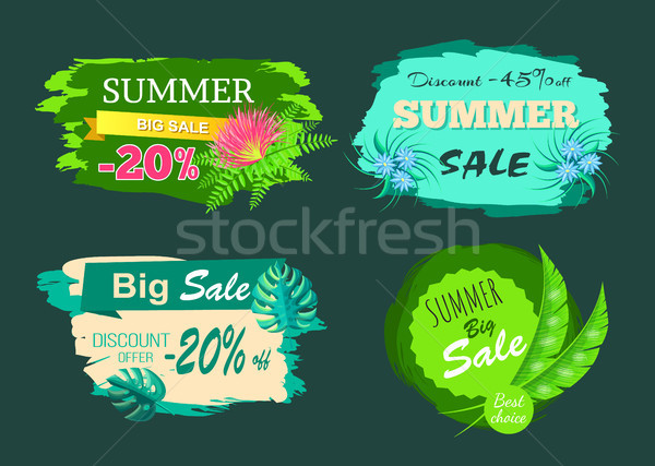 Summer Sale -20 Off Discount -45 Big Offer Set Stock photo © robuart
