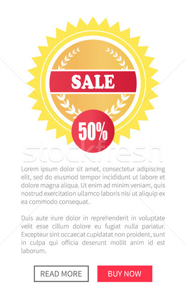 Sale Special Offer Round Labels on Web Posters Set Stock photo © robuart