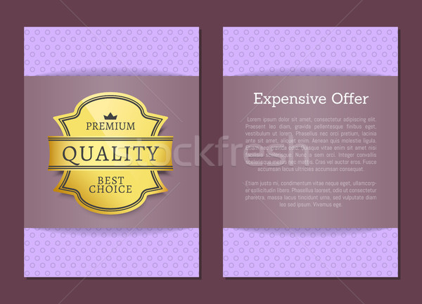 Expensive Offer Premium Quality Best Golden Label Stock photo © robuart