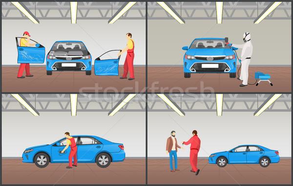 Car Maintenance Service Set Vector Illustration Stock photo © robuart