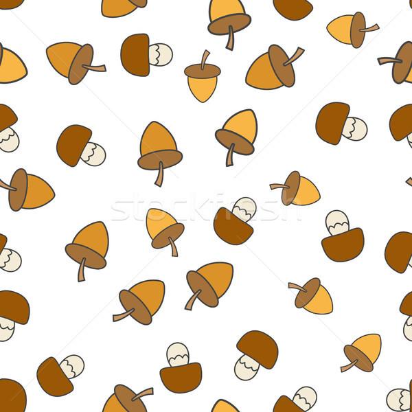 Grzyby wektora dąb orzechy grzyby Zdjęcia stock © robuart