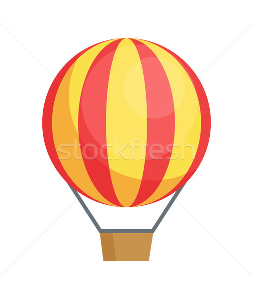 Flying Airballon Vector Poster Air Transport Icon Stock photo © robuart