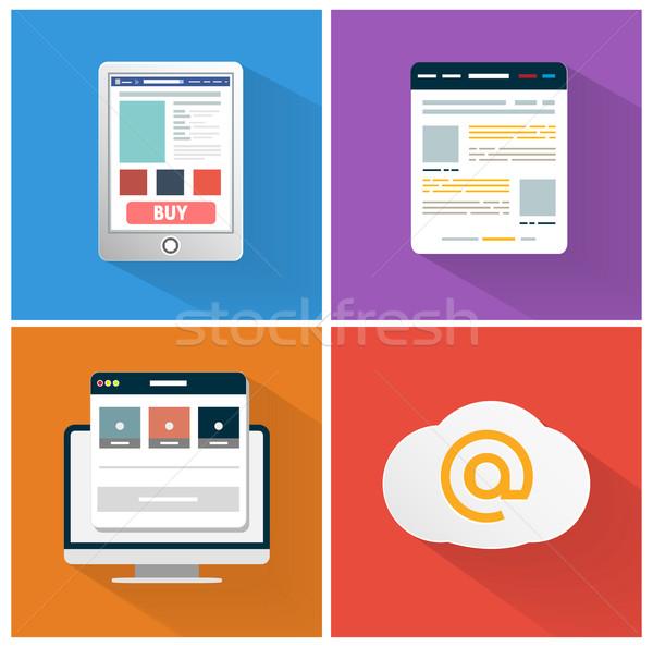 современных приложение икона браузер бизнеса дизайна Сток-фото © robuart