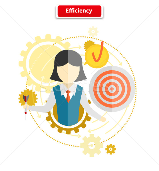 Icon Flat Style Concept Efficiency Stock photo © robuart