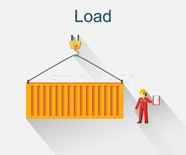 Load Container Icon Design Style Stock photo © robuart