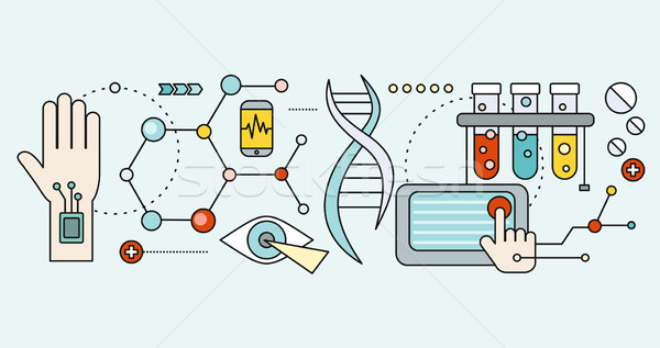 Laboratory with Human DNA. Concept Scientific Stock photo © robuart