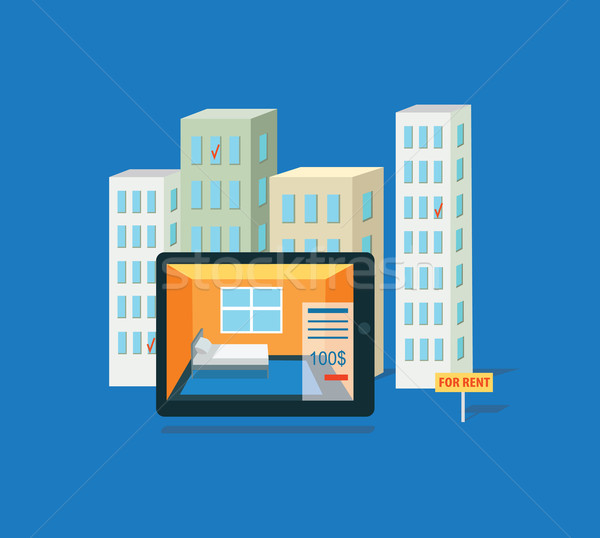 Flat Rent Price Design Concept Stock photo © robuart