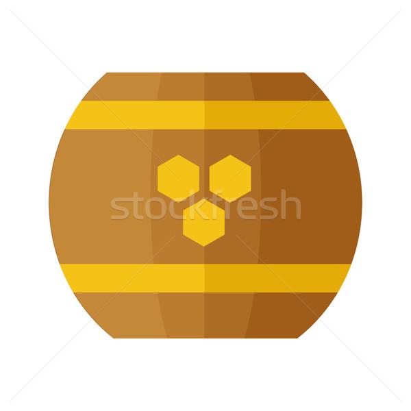 Legno barile miele simbolo vettore stile Foto d'archivio © robuart