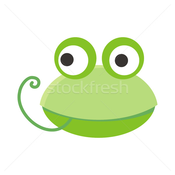 Frog Face Vector Illustration in Flat Design Stock photo © robuart
