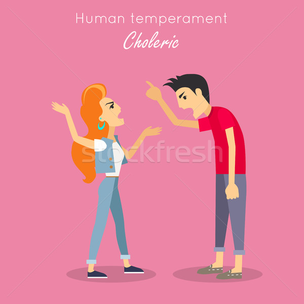Human Temperament Concept Vector in Flat Design Stock photo © robuart