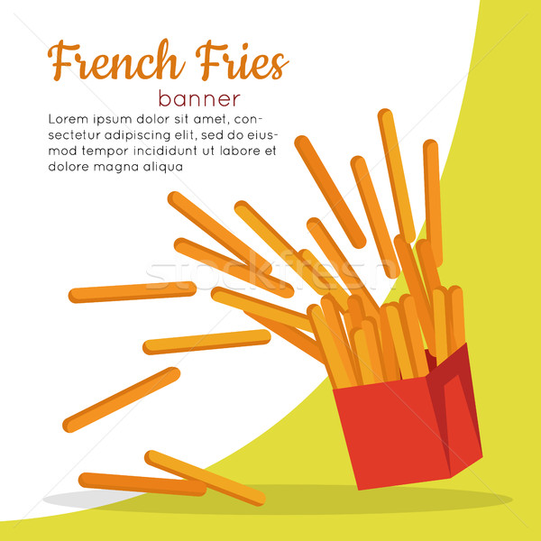 French Fries Crispy Potatoes Stock photo © robuart
