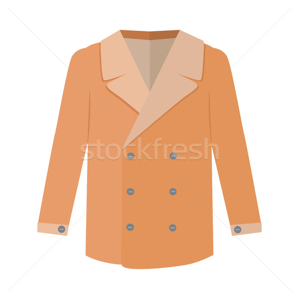Warm Orange Men s Coat Flat Design Vector Stock photo © robuart