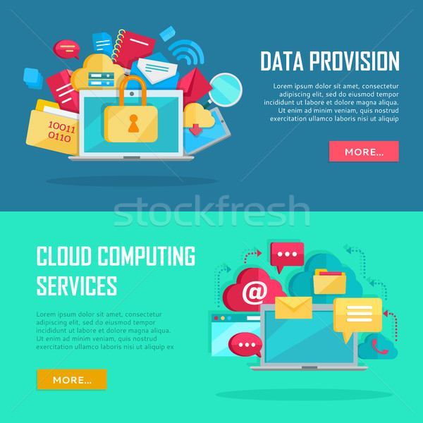 Data Provision, Cloud Computing Services Banners Stock photo © robuart