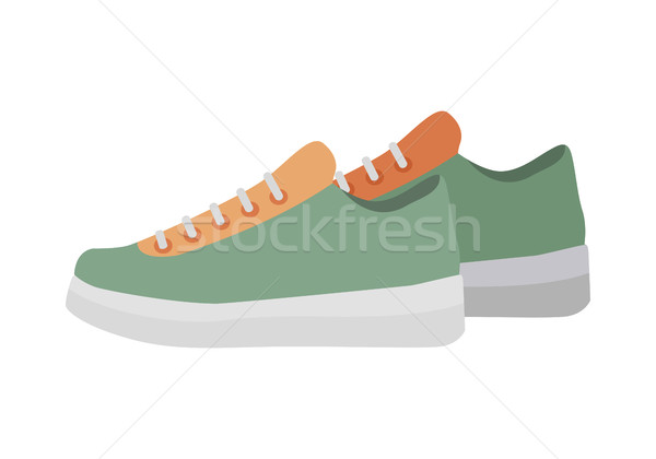 Deporte zapatillas aislado fitness blanco par Foto stock © robuart