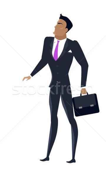 бизнесмен дизайна вектора мужчины характер бизнеса Сток-фото © robuart