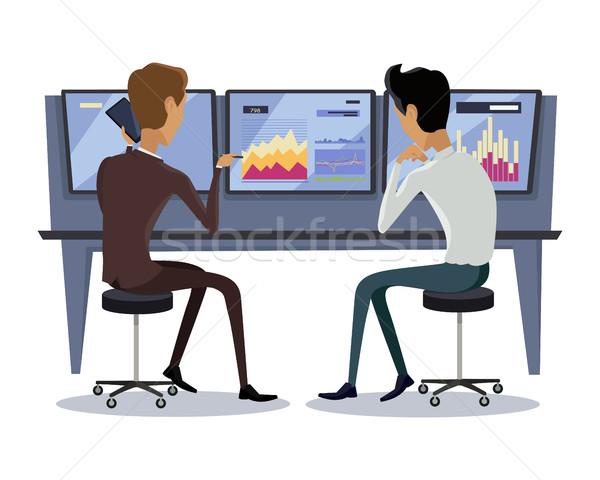 Modern Online Trading Technology Illustration. Stock photo © robuart