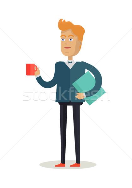 Man Character Vector Illustration in Flat Design Stock photo © robuart