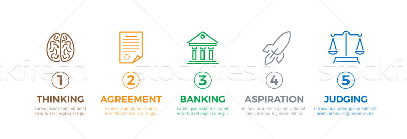 Business Process of Creating and Implementing Idea Stock photo © robuart