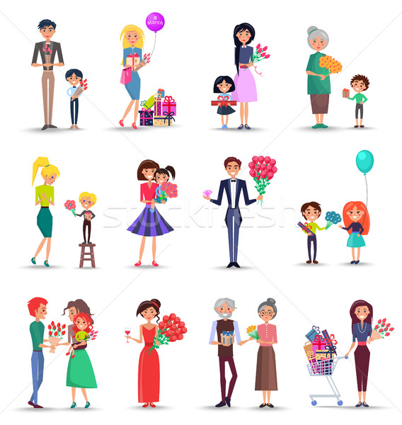 Stock photo: Women's Day Concept Colourful Collection on White