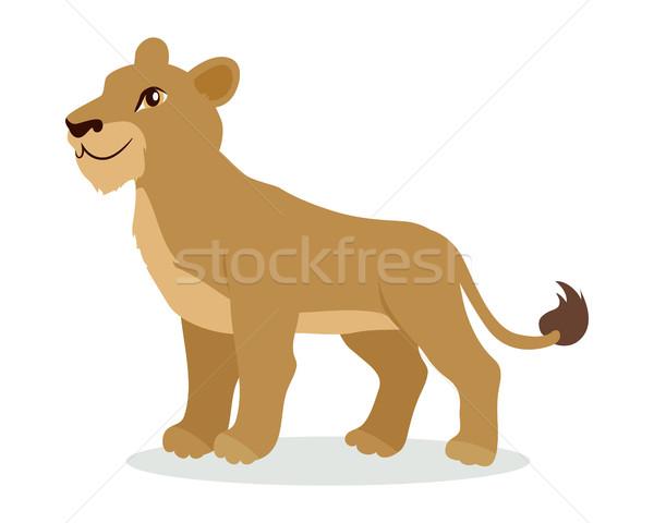 Leeuw welp cartoon icon ontwerp Stockfoto © robuart