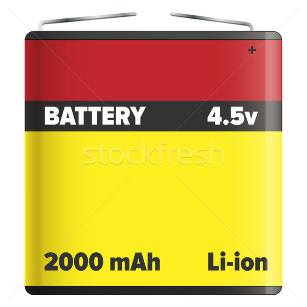 Battery Pack Li-ion or Lithium-ion Isolated White Stock photo © robuart