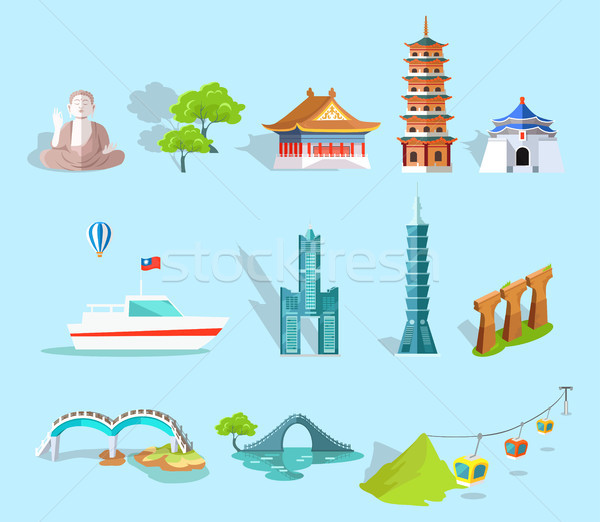 Concept of Taiwan Attractions Graphic Art Design Stock photo © robuart