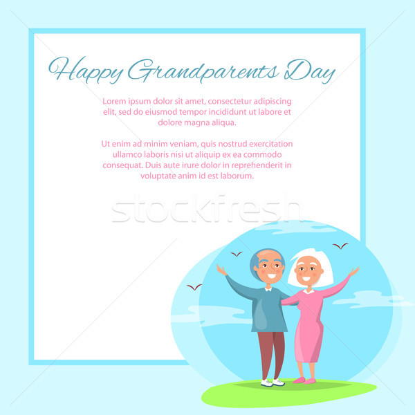 Happy Grandparents Day Couple Together Outdoors Stock photo © robuart