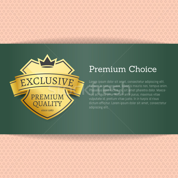 Premium Choice Exclusive on Vector Illustration Stock photo © robuart