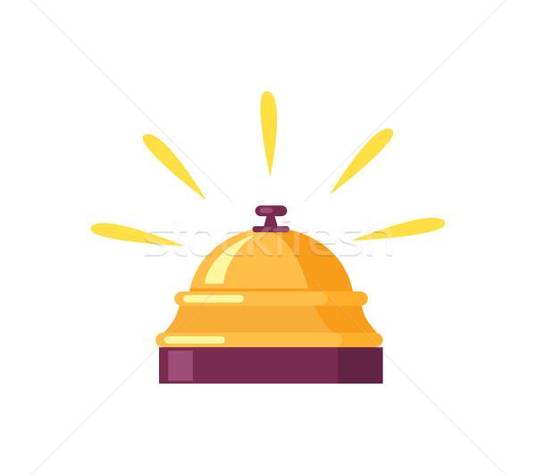 Ringing Golden Bell Icon Vector Illustration Stock photo © robuart