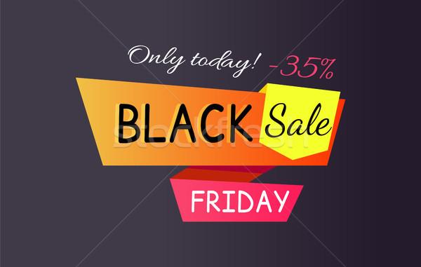 Hoje preto venda promo etiqueta Foto stock © robuart
