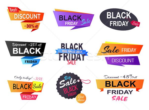 Oggi black friday sconto poster vendite negozi Foto d'archivio © robuart