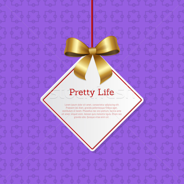 Pretty Life Hanging on Knit Label with Tag Place Stock photo © robuart