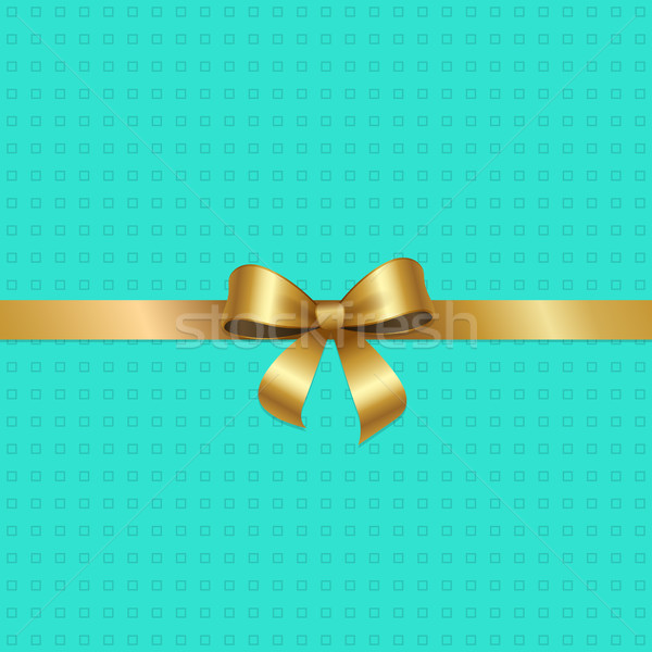 Tied Gold Bow with Ribbon in Center of Vector Pink Stock photo © robuart