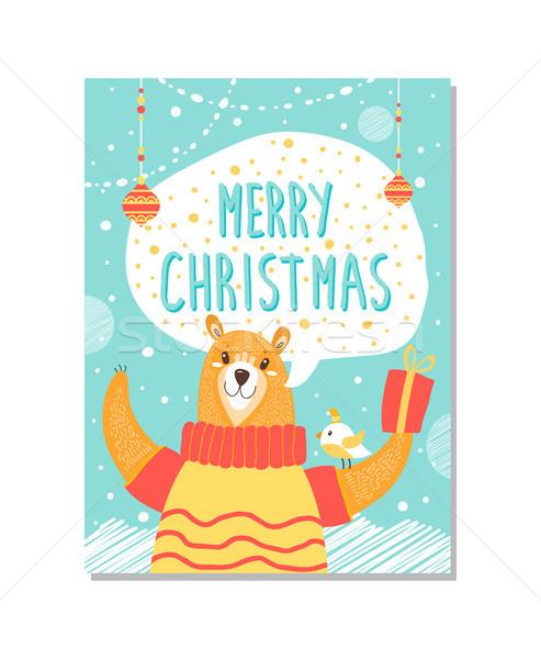 陽気な クリスマス クマ ポスター 画像 現在 ストックフォト © robuart