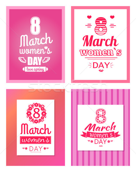 Collection of Posters with Womens Day 8 March Set Stock photo © robuart